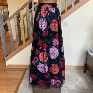 Eliza J full skirt polka dot and floral
